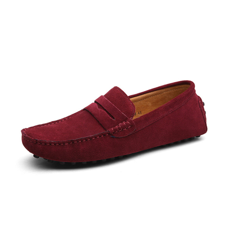 1408 MOCASSIN EN DAIM Red Wine