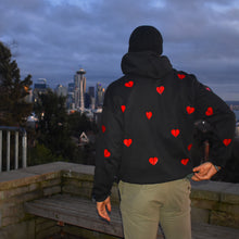Load image into Gallery viewer, Bred Hearts Everywhere Hoodie