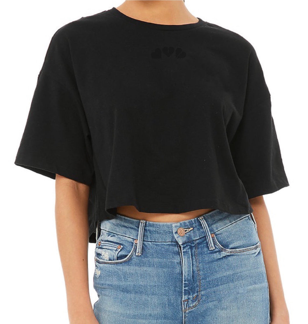 Stitched Phases Crop Tee
