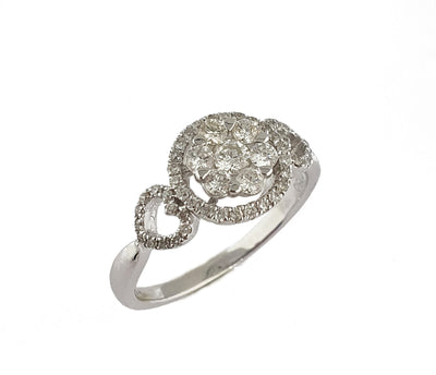 Anillo Oro Blanco , Brillantes