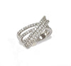 Anillo Oro Blanco 8,7 grs , Brillantes 1,7 Quilates