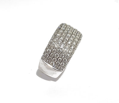 Anillo Oro Blanco, Brillantes
