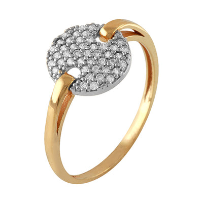 Anillo Oro Amarillo , Diamantes