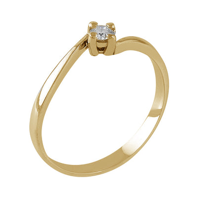 Anillo Oro Amarillo, Diamante