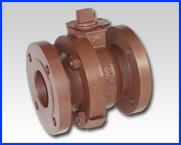 Series F Bolted Body Construction Flanged Ductile Iron Ball Valve