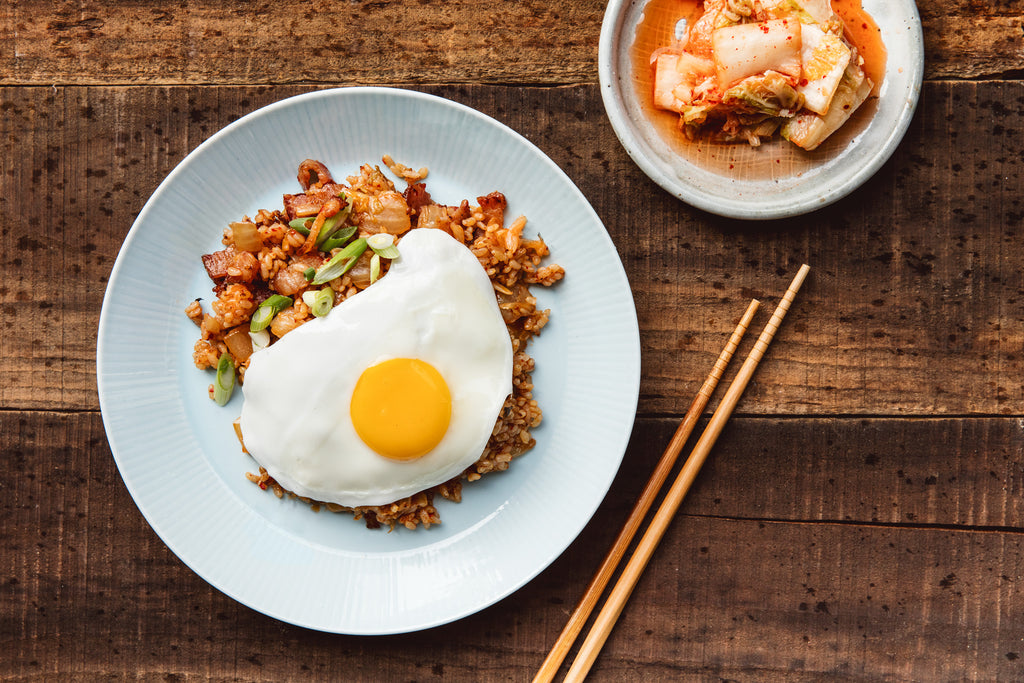Find recipes to perfect with the addition of kimchi or gochu jang.