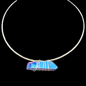 freya aura quartz choker infused with reiki healing energy
