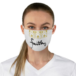 White FAITH Fabric Face Mask