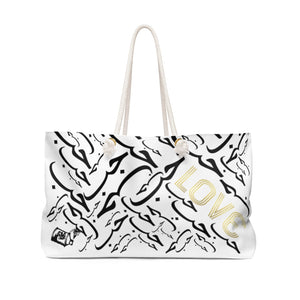 Arabic LOVE White Weekender Bag
