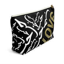 Load image into Gallery viewer, Black LOVE Accessory Pouch