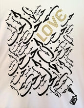 "Load image into Gallery viewer, White Graphic ""Love"" Women's Tee"