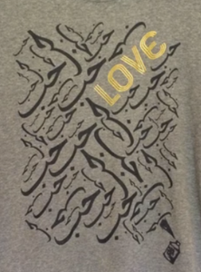 "Gray Graphic ""Love"" Tee"