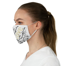 Load image into Gallery viewer, White LOVE Fabric Face Mask