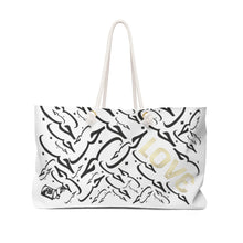 Load image into Gallery viewer, Arabic LOVE White Weekender Bag