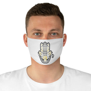 White HAMZA Fabric Face Mask