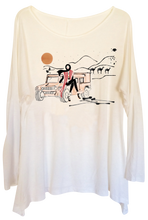 "Load image into Gallery viewer, White Women's ""Desert Girl"" Long Tunic Tee"