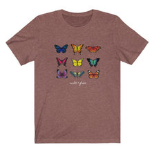 "Load image into Gallery viewer, ""Colorful Butterfly"" Graphic Tee"