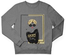 Load image into Gallery viewer, Gray TURBAN GIRL Crewneck Pullover