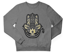 Load image into Gallery viewer, Gray HAMZA HAND Crewneck Pullover
