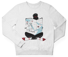 Load image into Gallery viewer, White MAP GIRL Crewneck Pullover