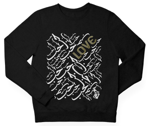 Black LOVE Crewneck Pullover