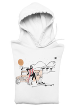 Load image into Gallery viewer, White DESERT GIRL Hooded Sweatshirt