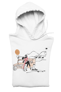 White DESERT GIRL Hooded Sweatshirt