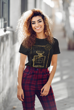 "Load image into Gallery viewer, Black Graphic ""Couture"" Perfume Bottle Women's Tee"