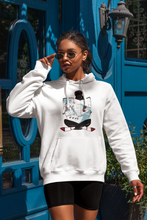 Load image into Gallery viewer, White MAP GIRL Hooded Sweatshirt