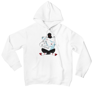 White MAP GIRL Hooded Sweatshirt