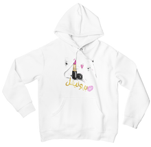 Load image into Gallery viewer, White BEAUTIFUL Hooded Sweatshirt