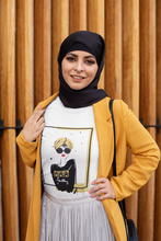 "Load image into Gallery viewer, White Graphic ""Turban Girl"" Women's Tee"