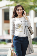 "Load image into Gallery viewer, White Graphic ""Couture"" Perfume Bottle Women's Tee"