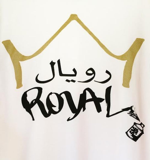 Tees - Arabic Royal Tee-White