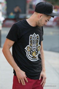Black Graphic Hamza Hand Tee