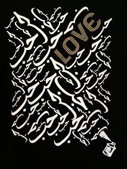 "Tunics - Arabic ""Love"" Long Sleeve Tunic-Black"