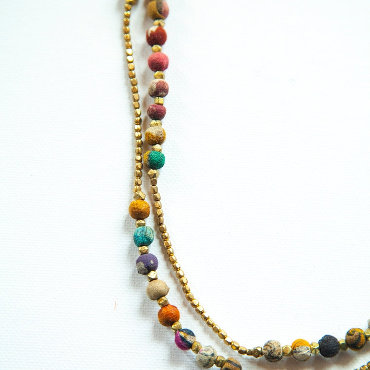 "52"" Handcrafted Upcycled Necklace"