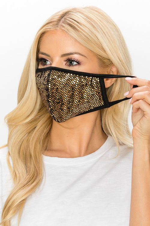Gold Disco Face Mask