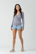 Marvin Surplice Long Sleeve Top