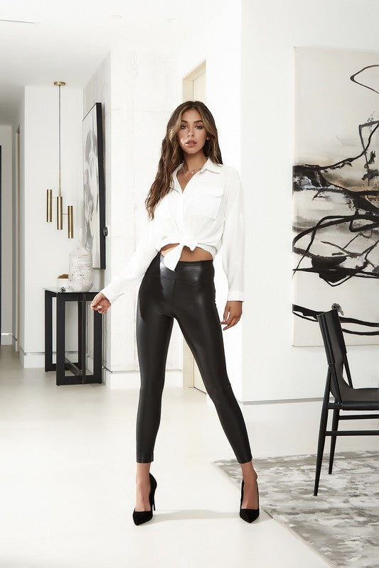 Pleather Riding Leggings