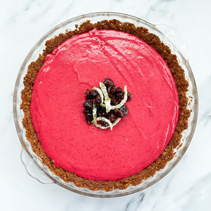 Cranberry Tart + Gingersnap Crust
