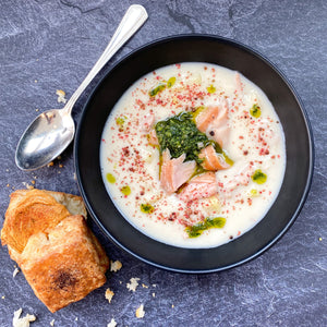 Smoked Salmon + Parsnip Chowder