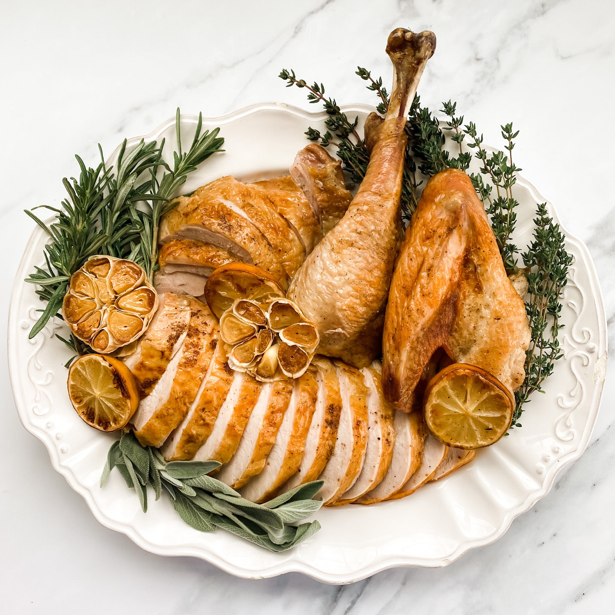 Brined + Buttered Half Turkey