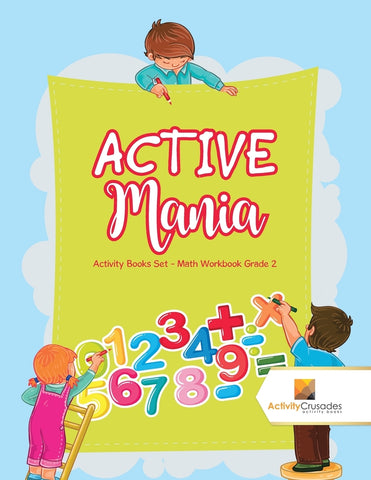 ACTIVE Mania : Activity Books Set - Math Workbook Grade 2