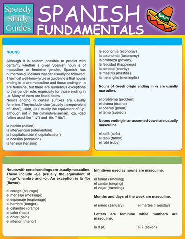 Spanish Fundamentals 1 (Speedy Study Guides: Academic)