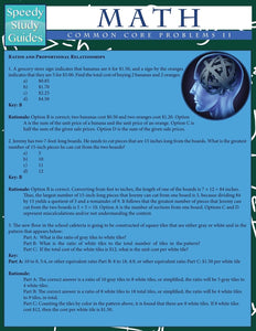 Math Common Core Problems II (Speedy Study Guides: Academic)