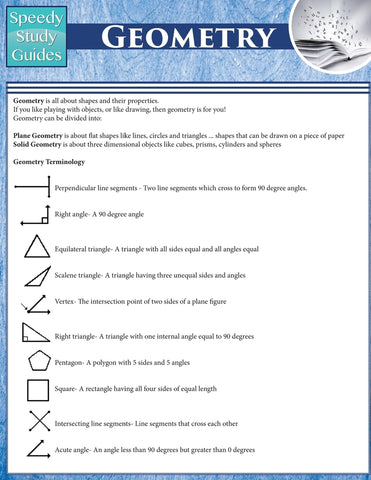 Geometry (Speedy Study Guides: Academic)