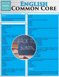 English Common Core (Speedy Study Guides: Academic)