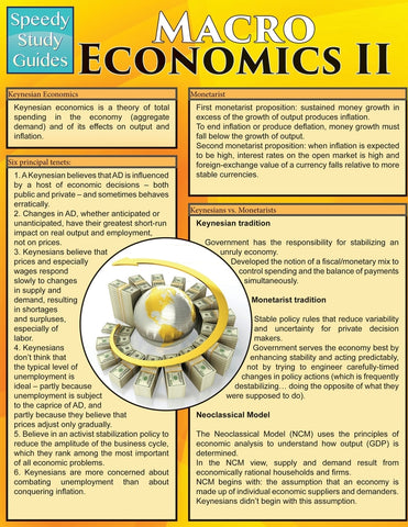 Macro Economics II (Speedy Study Guides: Academic)