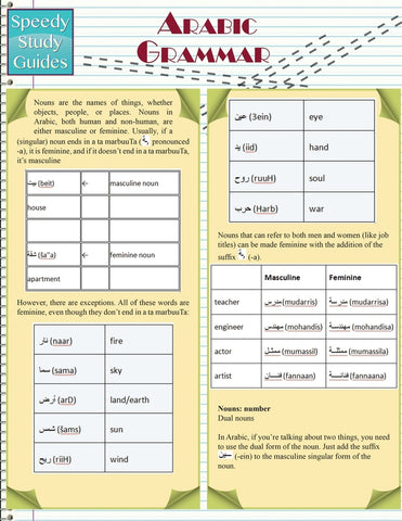 Arabic Grammar (Speedy Study Guides: Academic)
